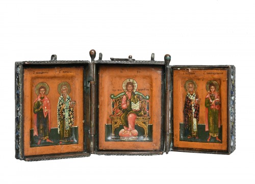 Art chamber object triptych about 1700