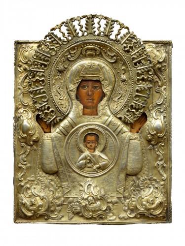 Icône Vierge De Signe vers 1650-80