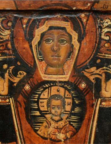 Icône Vierge De Signe vers 1650-80 - Renaissance