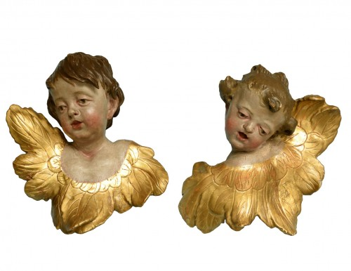 Pair of  angels  about 1730- 1770