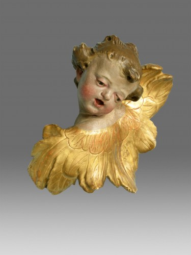 Pair of  angels  about 1730- 1770 - Sculpture Style