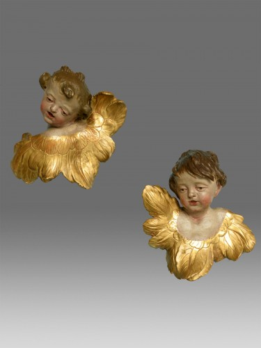 Pair of  angels  about 1730- 1770 -
