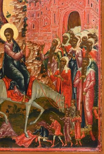 Icone Christ entry to Jerusalem -