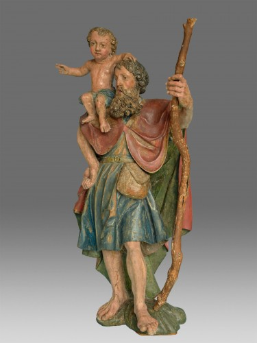 Sculpture of Saint Christophe Renaissance -