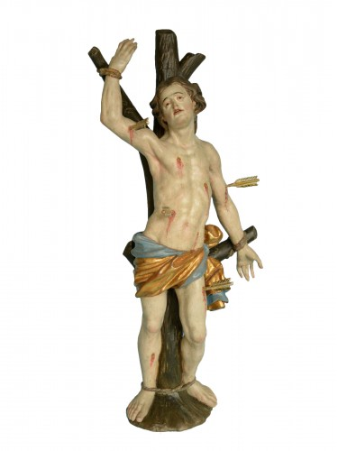 Saint Sebastien Sculpture  Baroque vers 1730