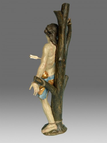 Sculpture  - Sculpture Saint Sebastien Baroque around 1730