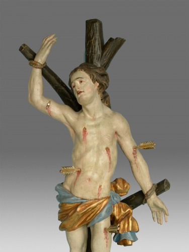 Sculpture Saint Sebastien Baroque around 1730 -