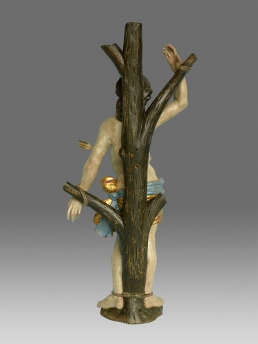 18th century - Sculpture Saint Sebastien Baroque around 1730