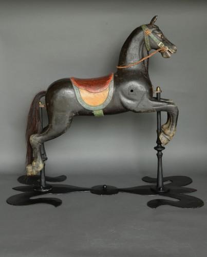 Original Carousel Horse Second Half 19th Century - Curiosities Style Napoléon III