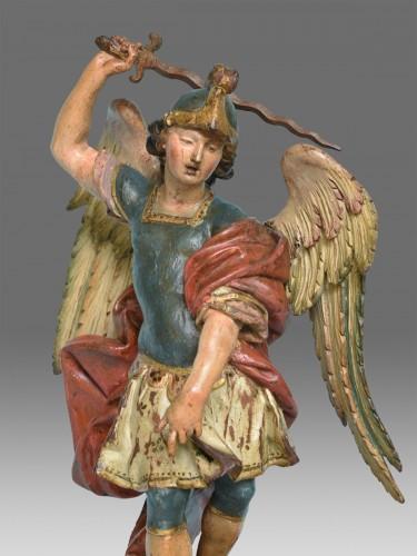 Saint Michel Italy Naples 18th century - Sculpture Style Louis XVI