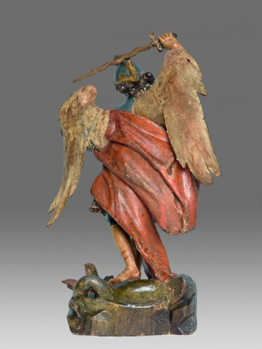 Sculpture  - Saint Michel Italy Naples 18th century