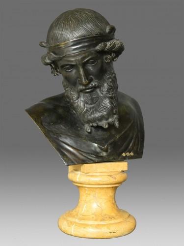 Bust of Dionysus or Plato circa 1880 - Sculpture Style Napoléon III