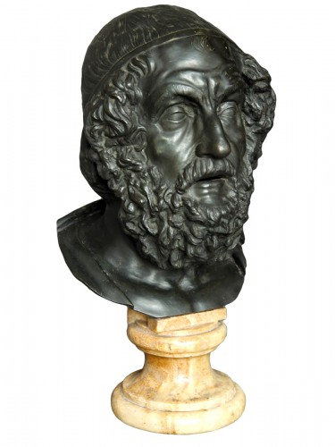 Monumental bust of the philosopher Homer