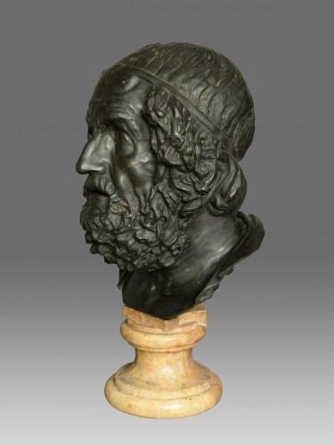 Monumental bust of the philosopher Homer -