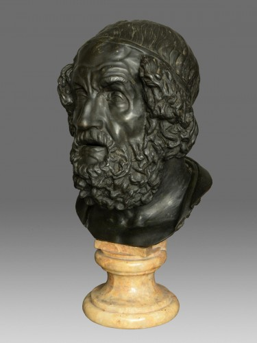 19th century - Monumental bust of the philosopher Homer