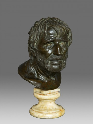 Bust in bronze of Seneca Naples 19th Century - Napoléon III
