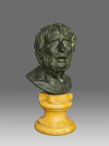 Sculpture  - Bust of Seneca Italy 19th Century