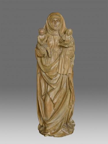 Sculpture  - Madonna and Child with Saint Anne circa 1480-1500