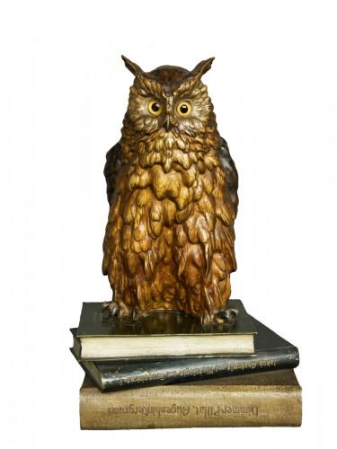 """Old Vienna Bronze Owl """" Franz Bergmann 1928"""""""