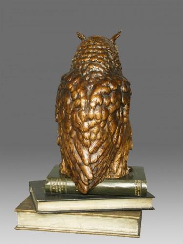 """Sculpture  - Old Vienna Bronze Owl """" Franz Bergmann 1928"""""""