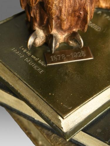 """20th century - Old Vienna Bronze Owl """" Franz Bergmann 1928"""""""