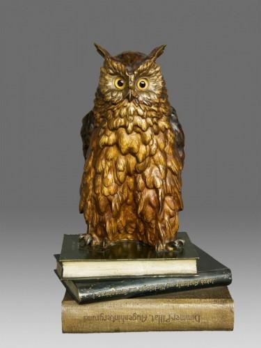 """Old Vienna Bronze Owl """" Franz Bergmann 1928"""" - Art Déco"""