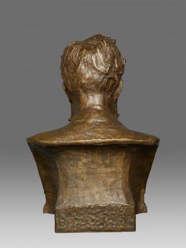 Bust of W. C. Röntgen by Reinhold Felderhoff Berlin - Sculpture Style Art nouveau
