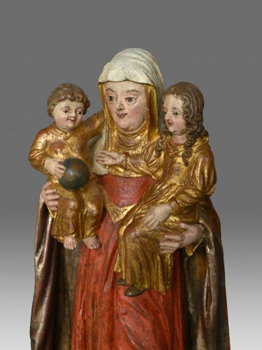 Madonna and Child with Saint Anne circa 1680 - Sculpture Style Louis XVI