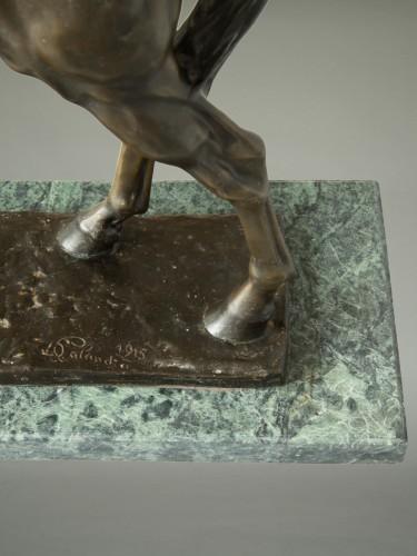 20th century - Large Bronze Horse by Davide Calandra (1858-1915)