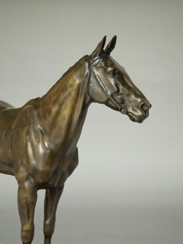 Large Bronze Horse by Davide Calandra (1858-1915) - Art Déco