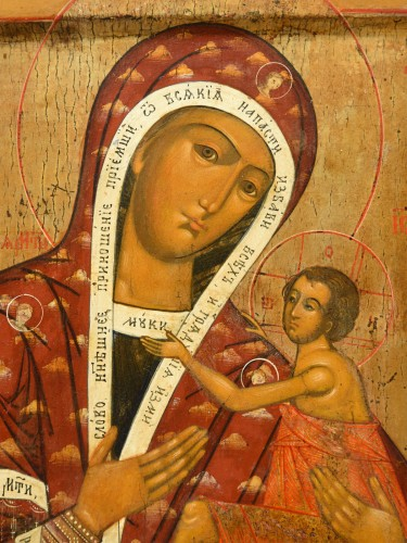Icone Mother of God Owsepethaja - Religious Antiques Style Restauration - Charles X