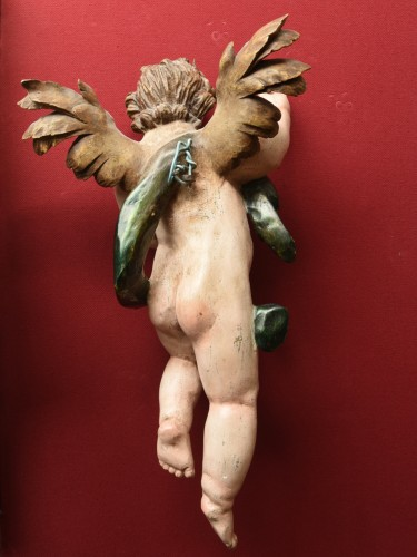 18th century - Baroque Angels sculpture circa 1740-60