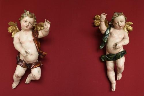 Antiquités - Baroque Angels sculpture circa 1740-60