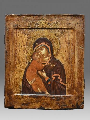 """Icon Mother of God """" Volokolamskaja"""" 17th century - Religious Antiques Style Louis XIII"""