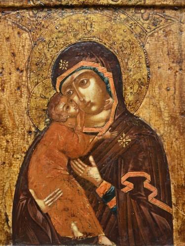 """Religious Antiques  - Icon Mother of God """" Volokolamskaja"""" 17th century"""