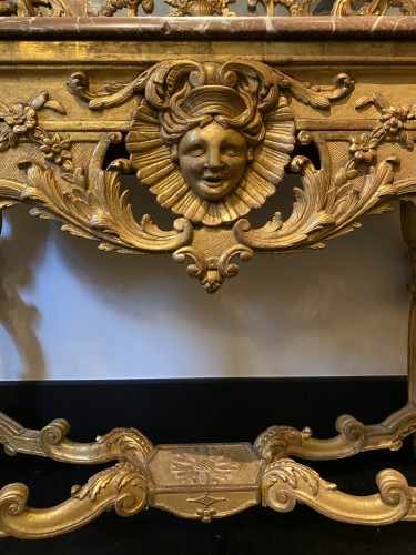 Furniture  - French Regence carved Giltwood console table