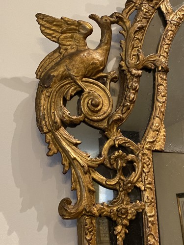 Mirrors, Trumeau  - French Regence giltwood mirror