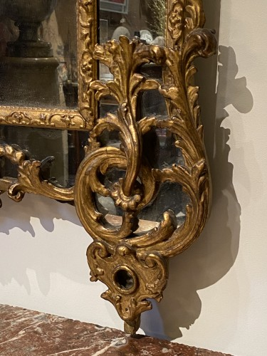 French Regence giltwood mirror -