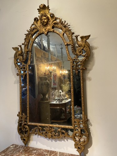 French Regence giltwood mirror - French Regence