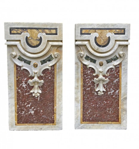Pair of marble panels