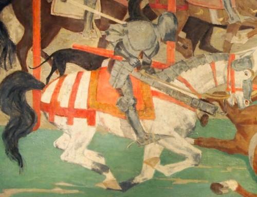 Paintings & Drawings  - The Tournament - Henri SENE (1889-1961)