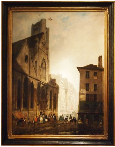 Leaving Mass  - Charles DARCHE (1810-1838)