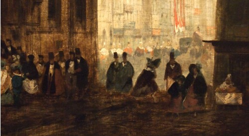 Paintings & Drawings  - Leaving Mass  - Charles DARCHE (1810-1838)