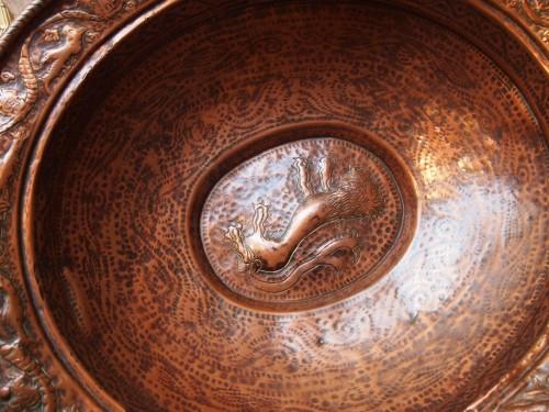 Curiosities  - Large 17th century italian cooler in copper