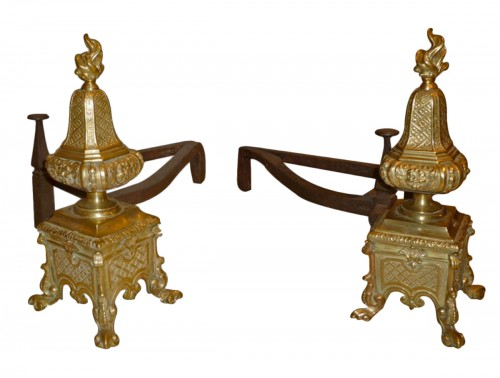 One paire of andiron, Louis XIV Centuty