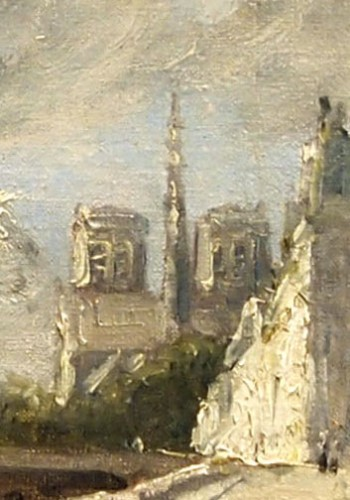 View of Notre Dame - Franck BOOGS (1855-1926) -