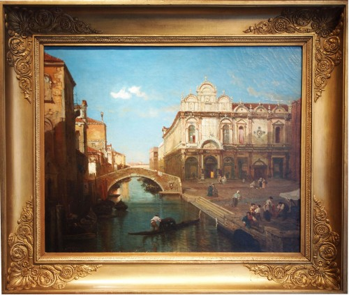 Giusseppe ROSSI (1820-1899) - Canal in Venise