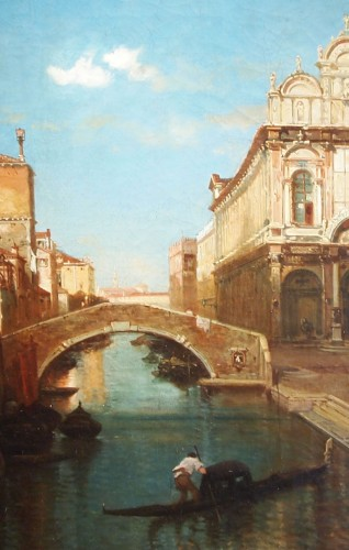 Paintings & Drawings  - Giusseppe ROSSI (1820-1899) - Canal in Venise