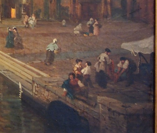 Giusseppe ROSSI (1820-1899) - Canal in Venise -