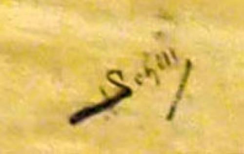 "19th century - Adolf SCHILL (1848-1911) ""Le colleur d'affiches"""